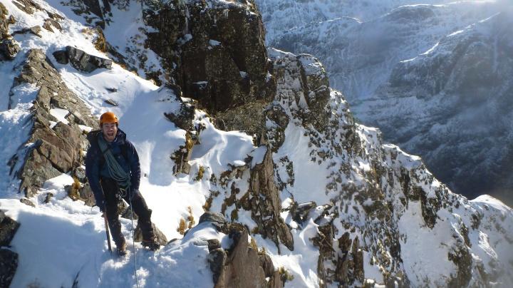 Great scrambling on the pinnacles.