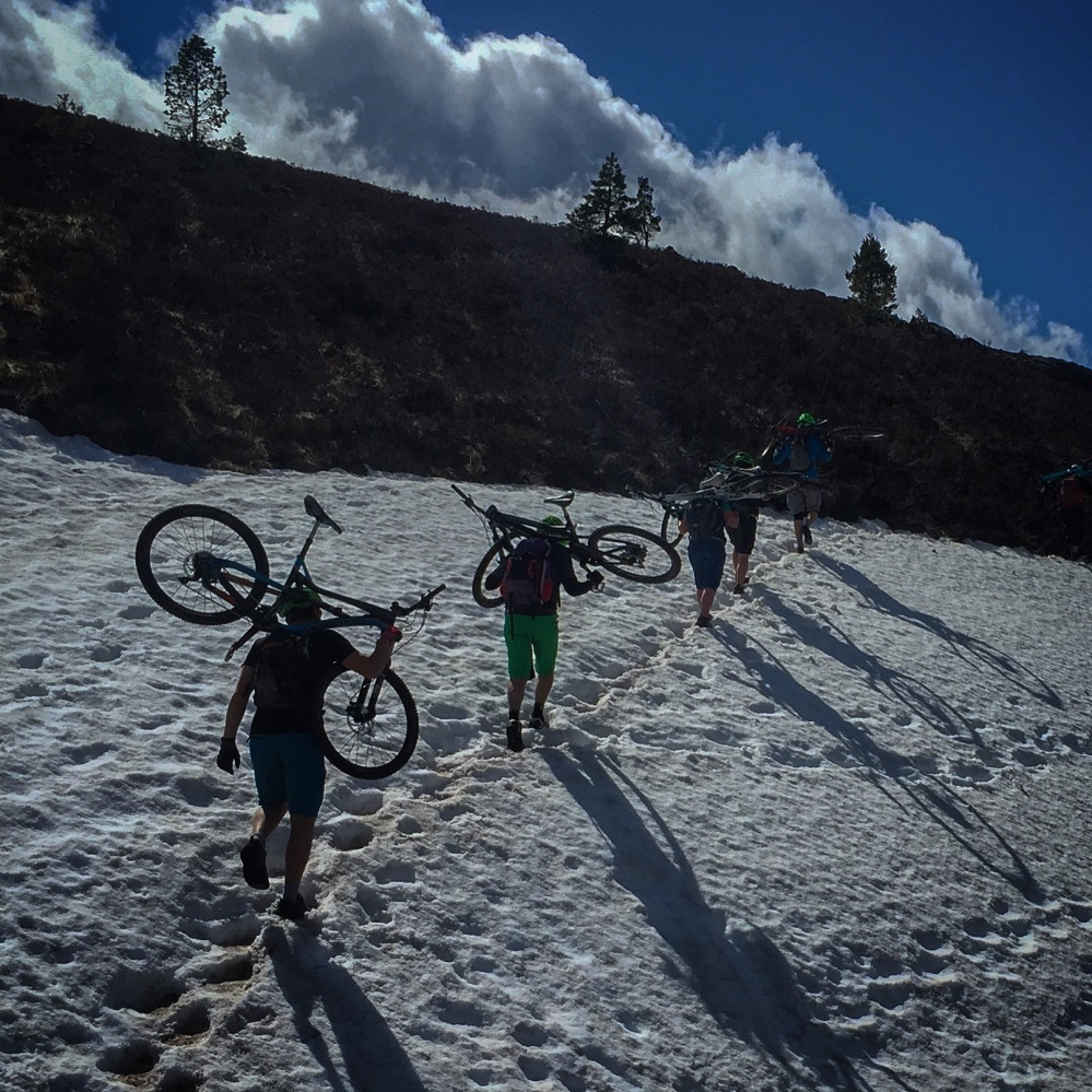 Testing the limits of 'summer conditions' up in the hills, and adding a hike-a-bike session for good measure.