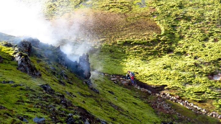 The long push out of the Laugahraun lava field on the Laugavegur trail.