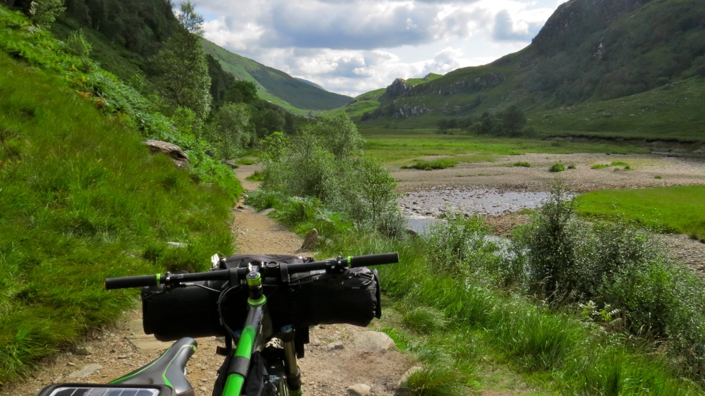 Heading out to Steall Falls