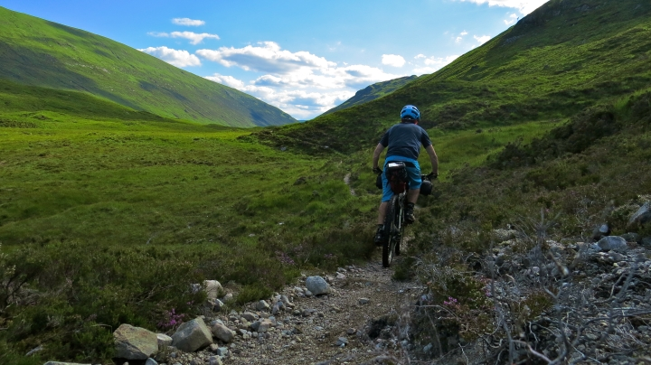 Climbing from Loch Treig