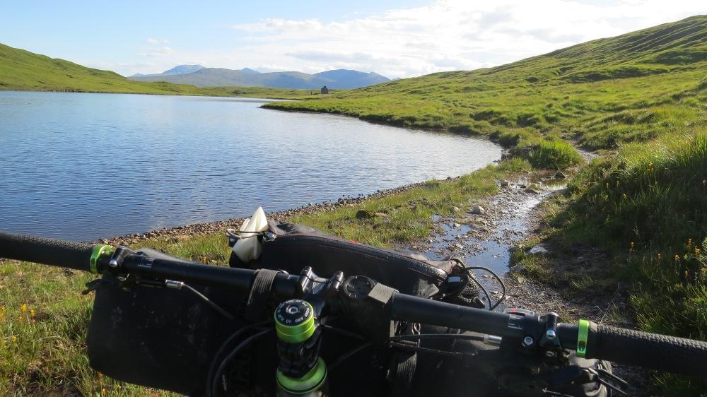 Lochside singletrack at Loch Chiarain