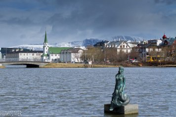 Spring showers in Reykjavik.