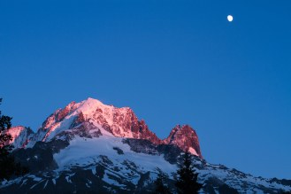 Moonrise over the Mont Blanc massif