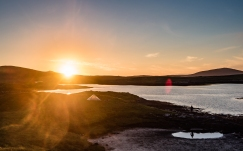 Sunset over Loch Maddy, North Uist