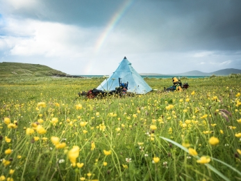 Camp on the machair.