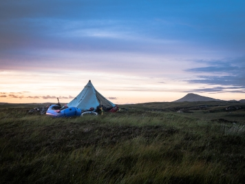 Camp on Benbecula